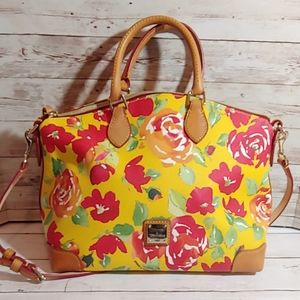 Dooney & Bourke yellow floral handbag